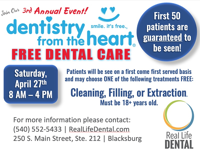 Dentistry from the heart event April 27th